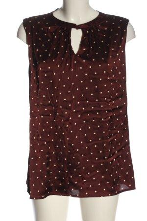 Zero Blusa de manga corta rojo-blanco puro look casual