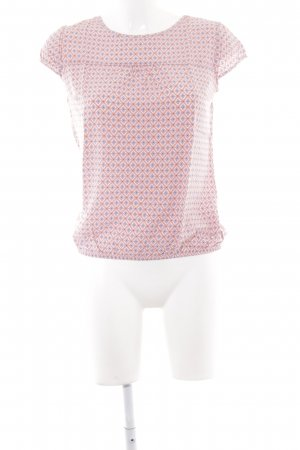 Zero Kurzarm-Bluse rosa abstraktes Muster Casual-Look