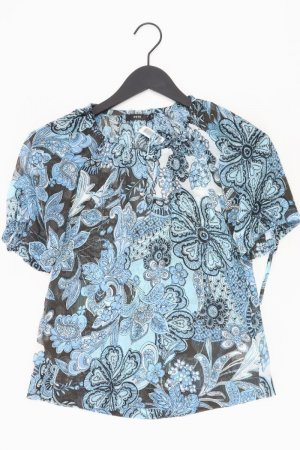 Zero Kurzarmbluse Größe 34 blau aus Polyester