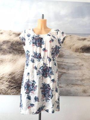 Zero Kurzarmkleid * Blumen-Muster * blau-weiß-rot * Casual-Look * 42/44