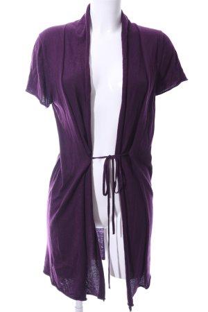 Zero Cardigan à manches courtes violet style décontracté
