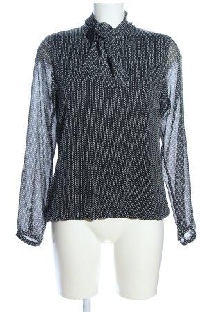 Zero Langarm-Bluse schwarz-weiß Punktemuster Business-Look