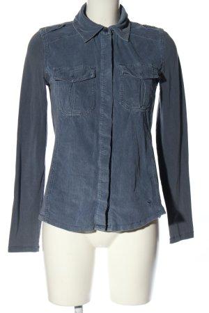 Zero Langarm-Bluse blau Casual-Look