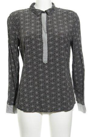 Zero Langarm-Bluse dunkelgrau abstraktes Muster extravaganter Stil