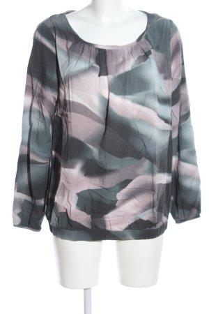Zero Langarm-Bluse abstraktes Muster Casual-Look