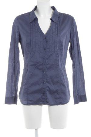 Zero Langarm-Bluse graublau Casual-Look