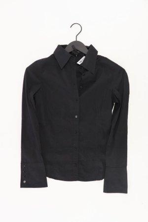 Zero Langarmbluse Größe 34 schwarz aus Baumwolle