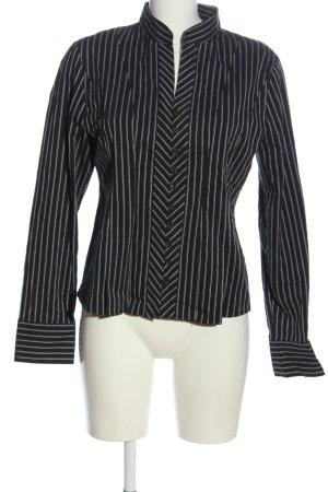 Zero Langarmhemd schwarz-weiß Streifenmuster Casual-Look