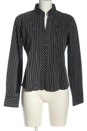 Zero Langarmhemd schwarz-weiß Streifenmuster Business-Look