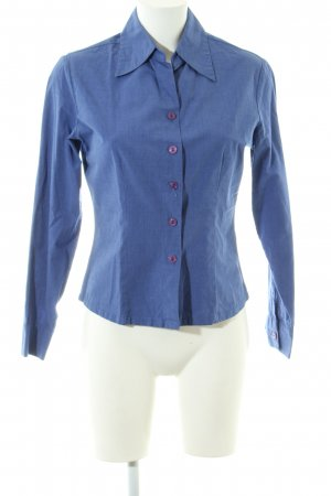 Zero Langarmhemd blau Business-Look