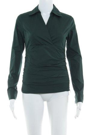 Zero Langarmhemd dunkelgrün Business-Look