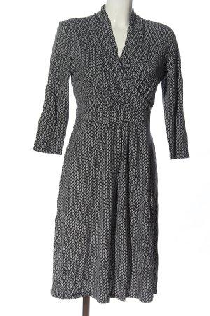 Zero Robe à manches longues noir-blanc motif abstrait élégant