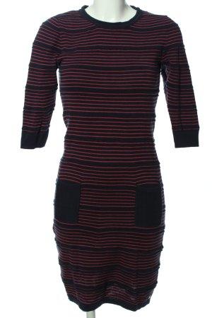 Zero Sukienka z długim rękawem czarny-czerwony Na całej powierzchni