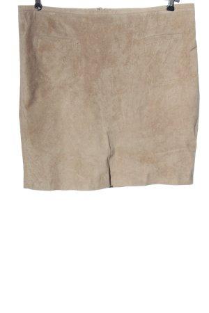 Zero Leather Skirt cream casual look