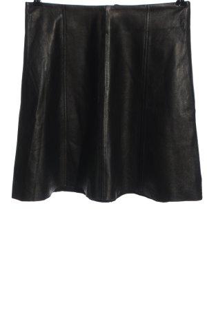 Zero Jupe en cuir noir style décontracté