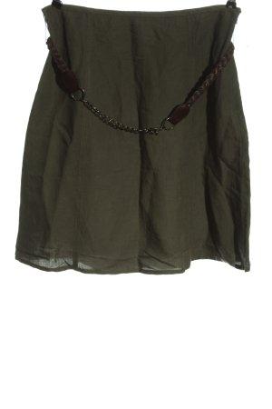 Zero Linen Skirt khaki elegant