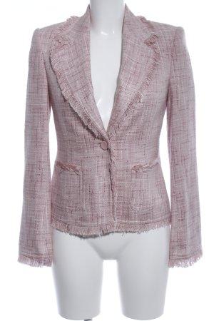 Zero Long-Blazer pink Karomuster Casual-Look