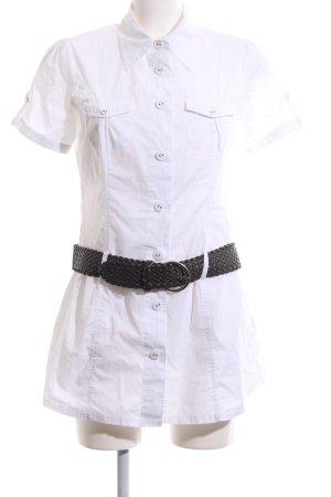 Zero Long-Bluse weiß-schwarz Casual-Look