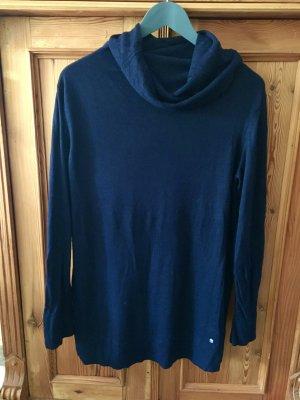 Zero Maglione lungo blu Cotone