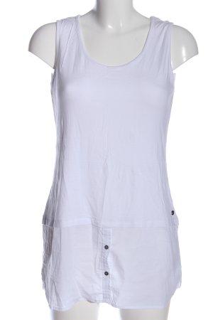 Zero Lange top wit casual uitstraling