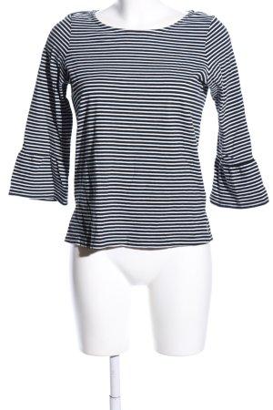 Zero Longsleeve schwarz-weiß Streifenmuster Casual-Look