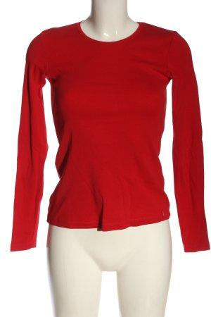 Zero Koszulka z długim rękawem czerwony W stylu casual