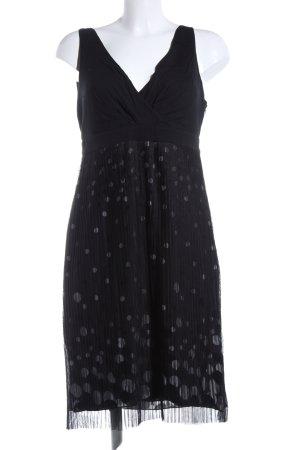 Zero Midi Dress black-light grey spot pattern elegant