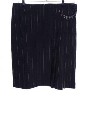 Zero Spódnica midi czarny-w kolorze białej wełny Wzór w paski