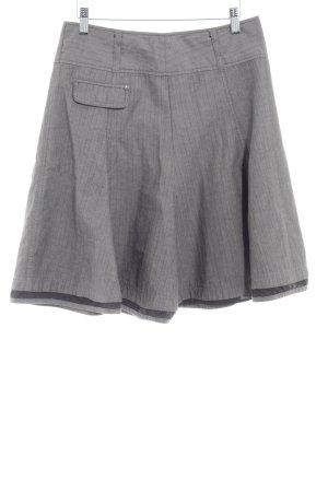 Zero Spódnica midi szary-szaro-brązowy Wzór w paski W stylu casual