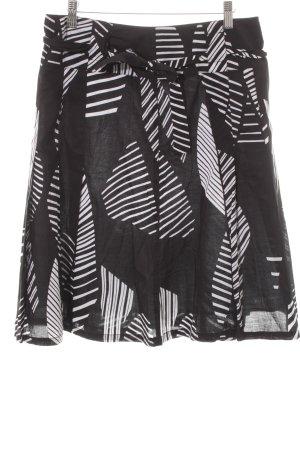 Zero Spódnica midi czarny-biały Wzór w paski W stylu casual