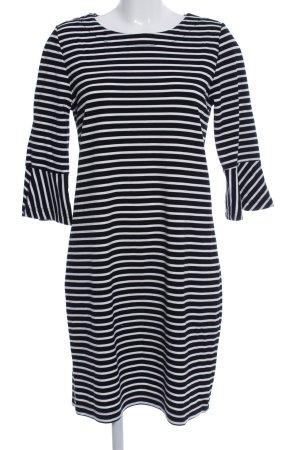 Zero Minikleid weiß-schwarz Streifenmuster Casual-Look