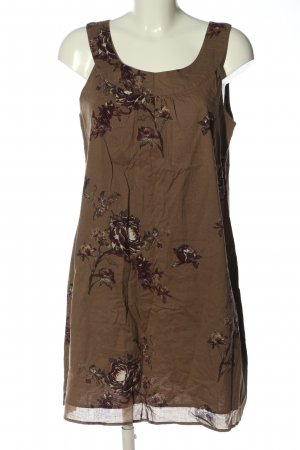 Zero Minikleid braun-rot Blumenmuster Casual-Look