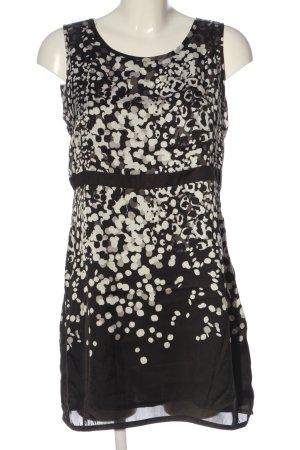 Zero Minikleid schwarz-weiß abstraktes Muster Casual-Look