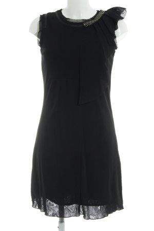 Zero Minikleid schwarz-silberfarben Elegant