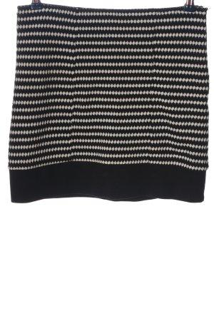 Zero Minirock schwarz-weiß Streifenmuster Casual-Look