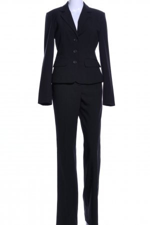 Zero Pinstripe Suit black striped pattern business style