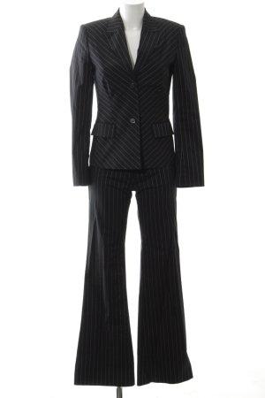 Zero Pinstripe Suit black-white striped pattern business style