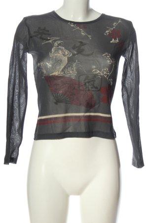 Zero Siateczkowa koszulka Nadruk z motywem W stylu casual