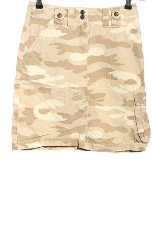 zero original Falda estilo cargo crema estampado de camuflaje look casual