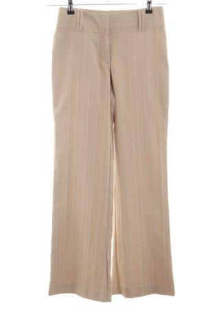 Zero Pantalone palazzo color carne motivo a righe stile casual