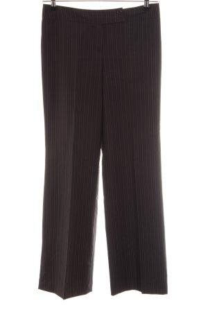 Zero Pantalone palazzo marrone-grigio chiaro motivo a righe stile professionale