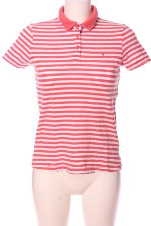 Zero Polo-Shirt pink-weiß Streifenmuster Casual-Look