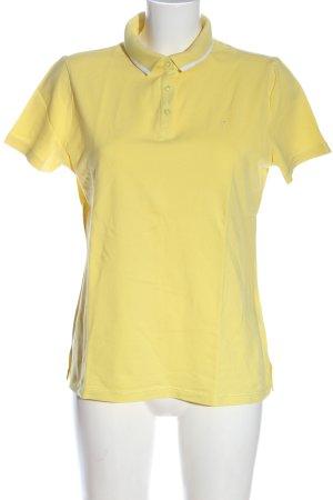 Zero Camiseta tipo polo amarillo pálido look casual