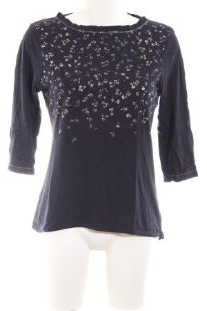 Zero Print-Shirt schwarz-weiß Blumenmuster Casual-Look