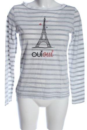 Zero Print-Shirt hellgrau Motivdruck Casual-Look