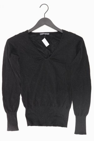 Zero Pullover Größe 38 schwarz aus Kunstseide