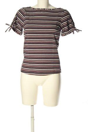 Zero Camisa de rayas estampado repetido sobre toda la superficie look casual