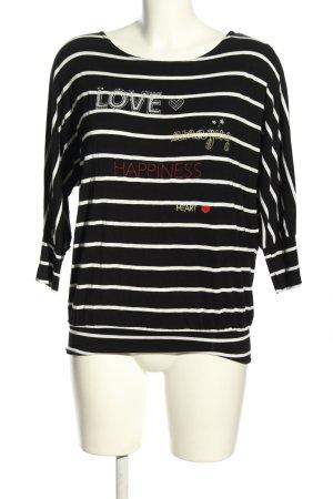 Zero Koszulka z długim rękawem czarny-biały Na całej powierzchni