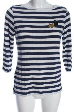 Zero Ringelshirt blau-weiß Streifenmuster Casual-Look