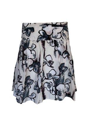 Zero Spódnica midi biały-czarny Bawełna